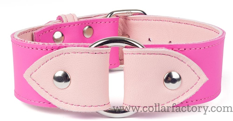 O-ring collar pink and pastel