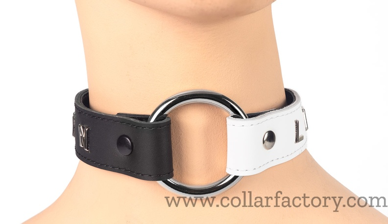 Black and White O-ring collar