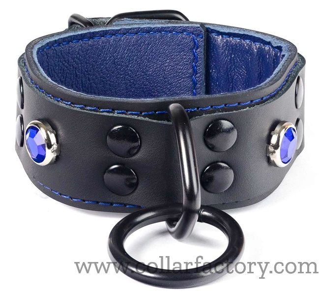 royal blue on black cuffs