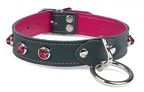 ruby-dome-gems-on-forest-green-collar